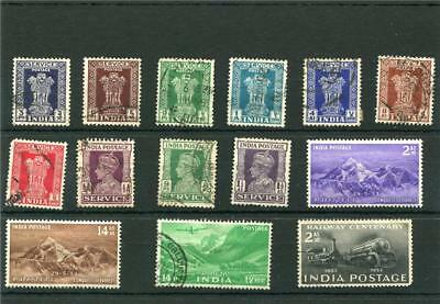 India. 14 -- Used Stamps On Stockcard