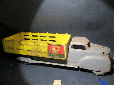 Early Marx Toys Gmc Cab Private Label Coca-Cola Stake Delivery Truck J400 Pf