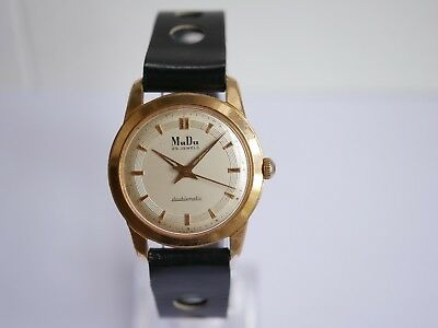 Vintage Mudu 25 Jewels Doublematic Swiss Made Mens Watch