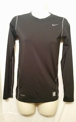 Nike Pro Combat Fitted Dri-Fit Compression Long Sleeve Shirt Black Sz. XL Youth