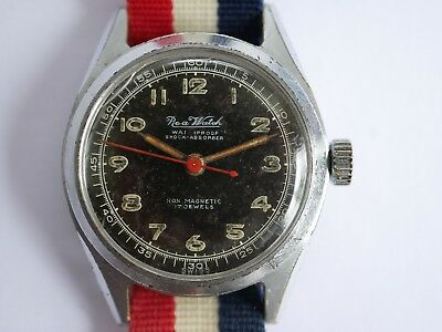 Vintage Ww2 Military Roa Watch 17 Jewels Swiss Made Mens Watch