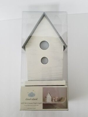 Cloud Island Led White Bird House Night Light New In Box! Ships super fast.
