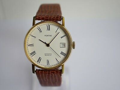 Vintage Montine Automatic Mens Watch
