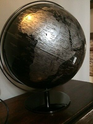 Large World Globe - With Mountain Range Relief.  Stunning Item Cost £160