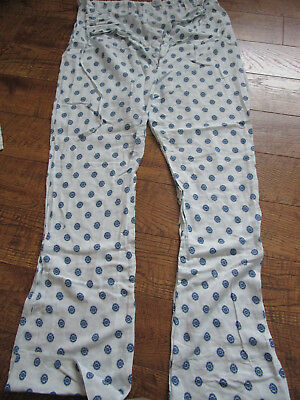 Vtg Hospital Patient Examination Gown/Pants Open Front XL Medline/Medcrest