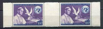 29616) DEALER STOCK HAUTE VOLTA 1966 MNH** Nuovi** Pope Paul VI  gutter pair X10