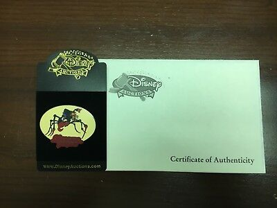 Treasure Planet Disney Auctions Scroop Black Prototype With COA NIP Pin 46326