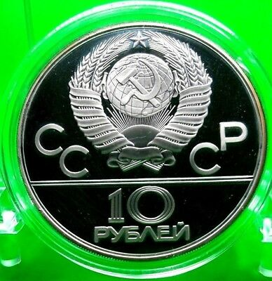 Money Ussr 10 Roubles 1980 Olympic Games Moscow Commemorative Silver Rare Coin