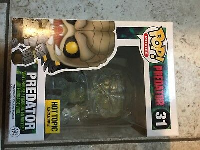 Hot Topic Exclusive Funko Pop! Movies: Predator (Clear Blood Splattered) #31