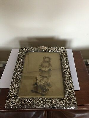 "A Silver Mounted Photograph Frame The Silver Marks Are Rubbed 8.75"" X 11"""