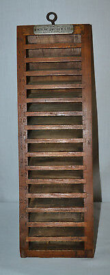 Vintage/Antique Morgans & Wilcox Mfg.Co. Printers Stand - Wood
