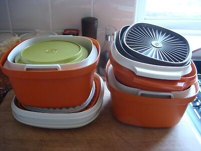 Vintage Tupperware Containers - 6 Pieces in Total