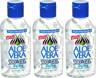 Fruit Of The Earth Aloe Vera 100% Gel No Alcohol - 56G X 3 Triple Pack