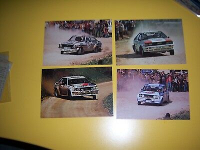 Lotto 4 Cartoline Antiche - Auto - Rally