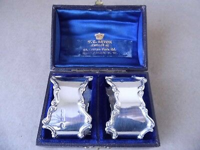Beautiful Excellent Art Nouveau Sterling Silver Napkin Rings 1917, Not Engraved