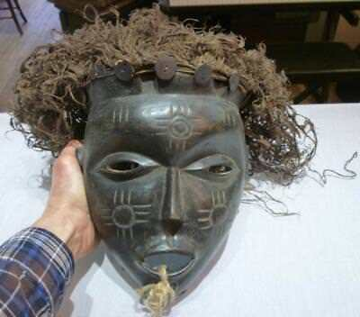 Vintage Authentic Hand Carved Unknown Tribe Face Mask.