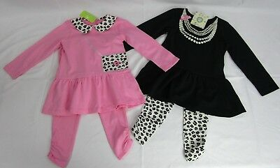 Little Me Toddler Girls' 4 Piece Daycare 2 Tops 2 Leggings Set (3T) *NWT*