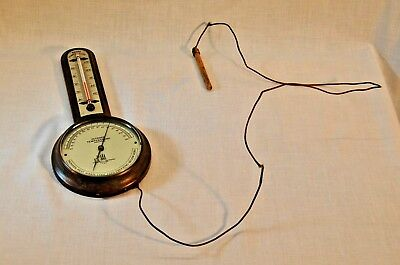 **RARE** Antique Indoor Outdoor Thermometer Luxor Optical Brass Copper