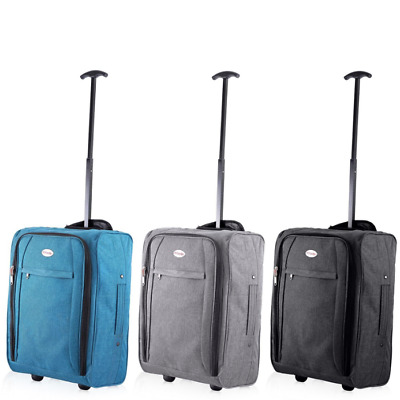 Cabin Suitcase Bag Luggage Ryanair Easy Jet FlyBe Cabin Approved Flight Trolley