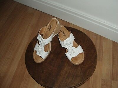 Ladies Gabor Sandals Size Uk 6 Brand New Without Box White Soft Leather