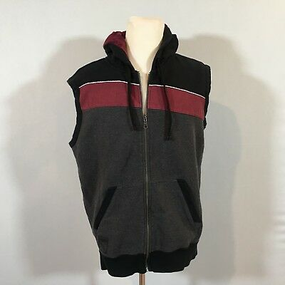 cadc6b9d579 Puma Sport Top Men Sleeveless Hoodie Full Zipper Sweater Size Large - C117