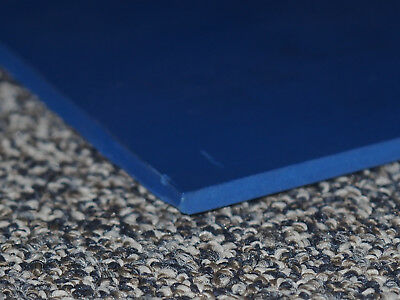 "Dark Blue Durable Plastic Sheets 4 piece lot(8"" X 24"" X 1/4"")"