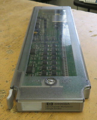 HP Agilent 34908A 40-Channel Multiplexer Single Ended