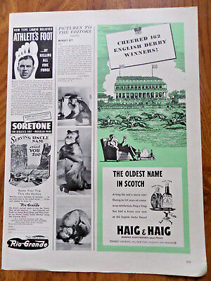 1942 Haig & Haig Whiskey Ad Horse Racing Track Theme