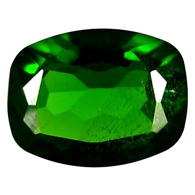 1.29 ct Significant Cushion Cut (8 x 6 mm) Russian Chrome Diopside Gemstone