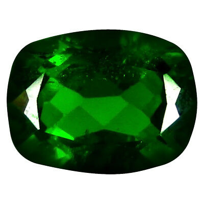 1.72 ct Significant Cushion Cut (8 x 6 mm) Russian Chrome Diopside Gemstone