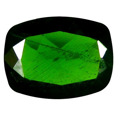 1.23 ct Shimmering Cushion Cut (8 x 6 mm) Russian Chrome Diopside Loose Gemstone