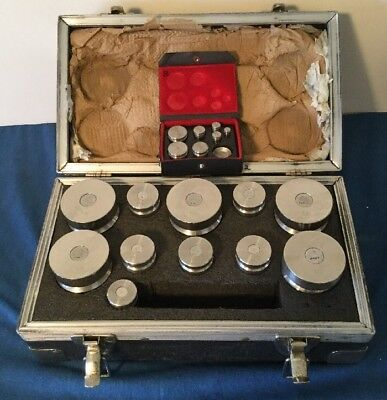 IBM Weighing System Calibration 19 Piece Weight Set .001lb - 5lb Case