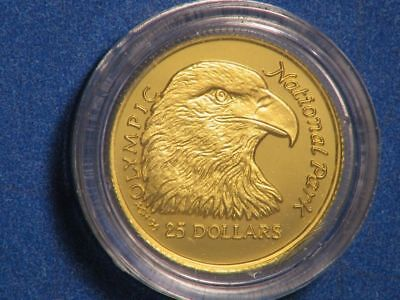COOK ISLANDS 1996 $25 Eagle GOLD Choice Proof in Capsule