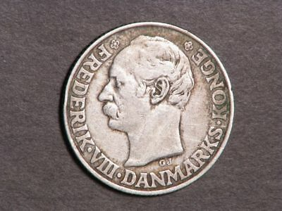 DANISH WEST INDIES 1907 20 Cents Silver VF