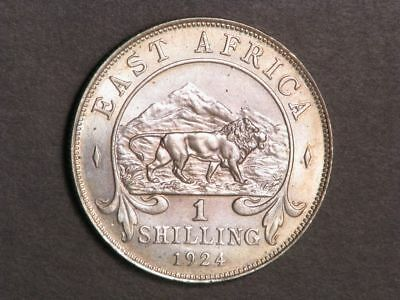 EAST AFRICA 1924 1 Shilling Silver UNC
