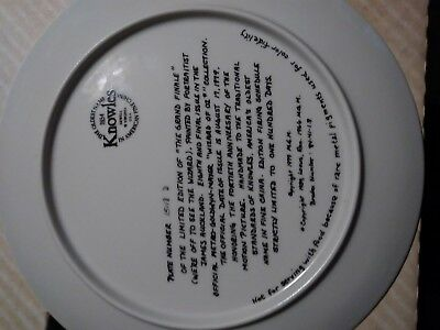"""1979 Knowles The Wizard of Oz Collectors Plate """"The Grand Finale"""" 10"""""""