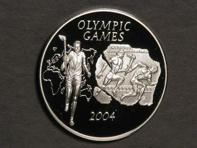 GHANA 2003 500 Sika Olympic Athletes Silver Choice Proof