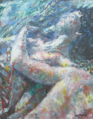 "Gerry Miller Malerei Bild ""The Lovers"" (Unikat) 40x50cm"