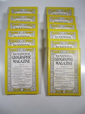 National Geographic magazine Lot 1949 Complete Year! 12 Issues!