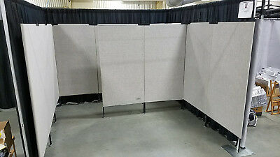 9 (or more) Pro Panel / Amstrong Art Display Panels, 10'x10' Booth, Light Grey