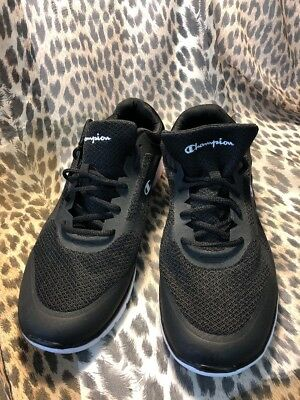 2883eccd717 CHAMPION MENS GUSTO RUNNER SIZE 13 Black MEMORY FOAM Training Jogging