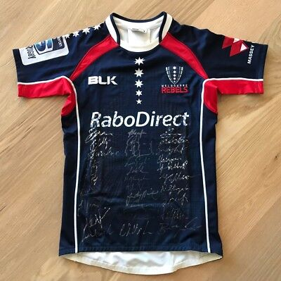 Melbourne Rebels Super Rugby Signed Memorabilia Player Issue Jersey Shirt