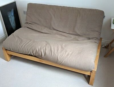 Double Futon Company Sofa Bed With Mattress And Cover Solid Wood Frame Cambridge