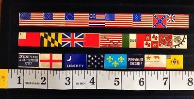 FRANKLIN MINT FLAGS OF LIBERTY .925 SILVER 25 INGOT SET W/ Orig RECEIPT CASE Com