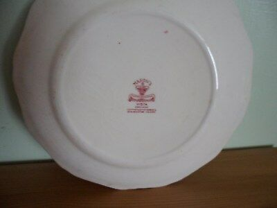 2 Vintage Red And White Mason's Dishes