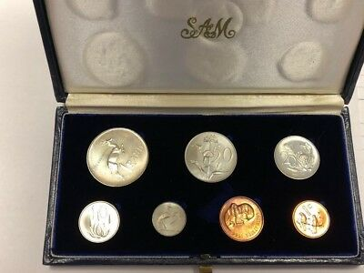 South Africa 1966 7 Coin Proof Set With Silver 1 Rand