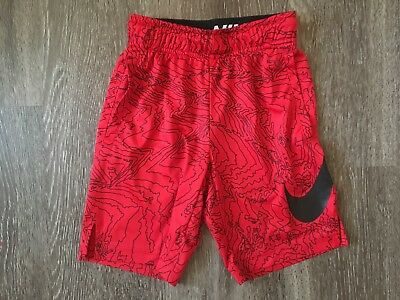 Boy's Youth NIKE Dri Fit Exercise Athletic Shorts Size XS Red
