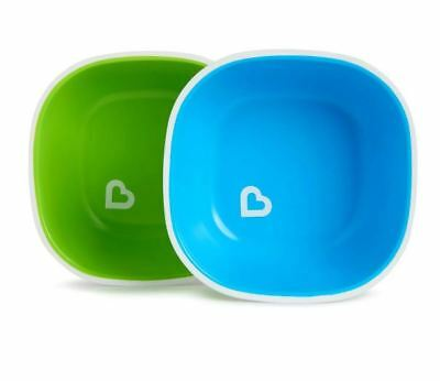 Munchkin Splash 2 Pack Toddler Bowls - Blue and Green