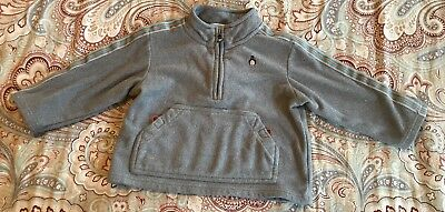 Janie And Jack Coat Jacket Shirt Pullover Fleece Boys 2t Penguin Gray