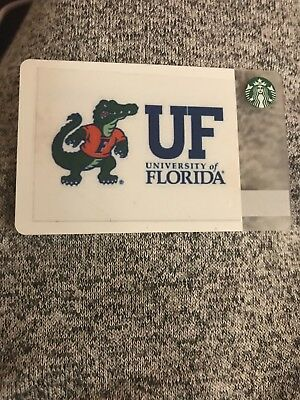 Starbucks Gift Card. University of Florida.No Value